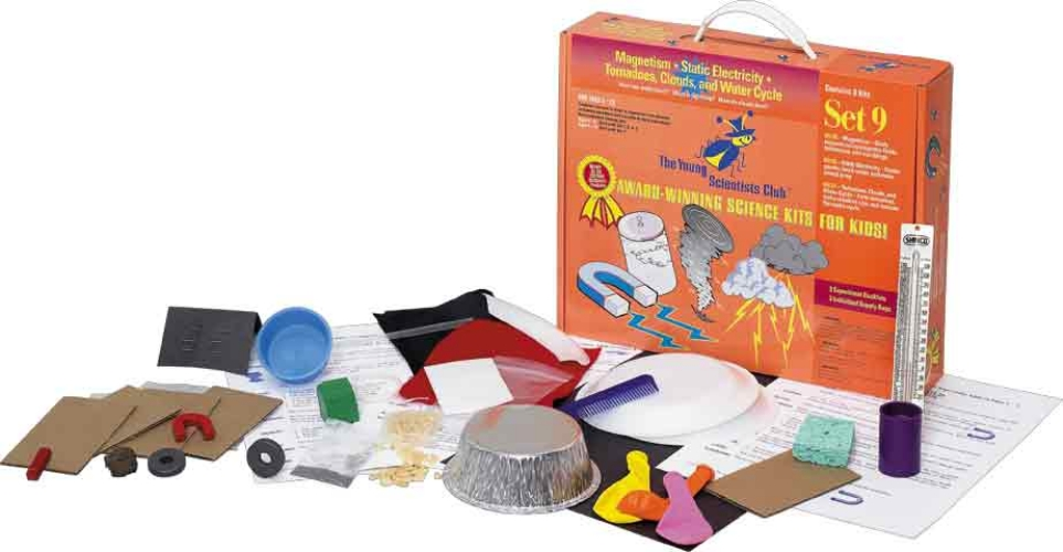 The Young Scientists Club WH-925-1109 Young Scientist Series- Set 9: Magnetism - Static Electricity - Tornadoes  Clouds  and Water Cycle