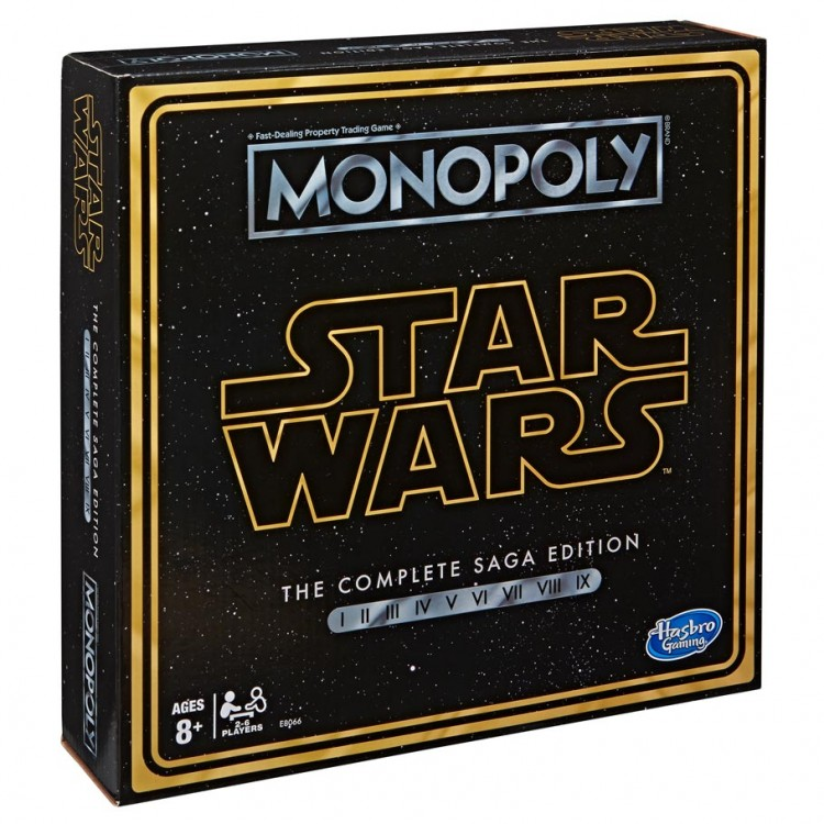 Hasbro HSBE8066 Star Wars Saga Monopoly Board Game