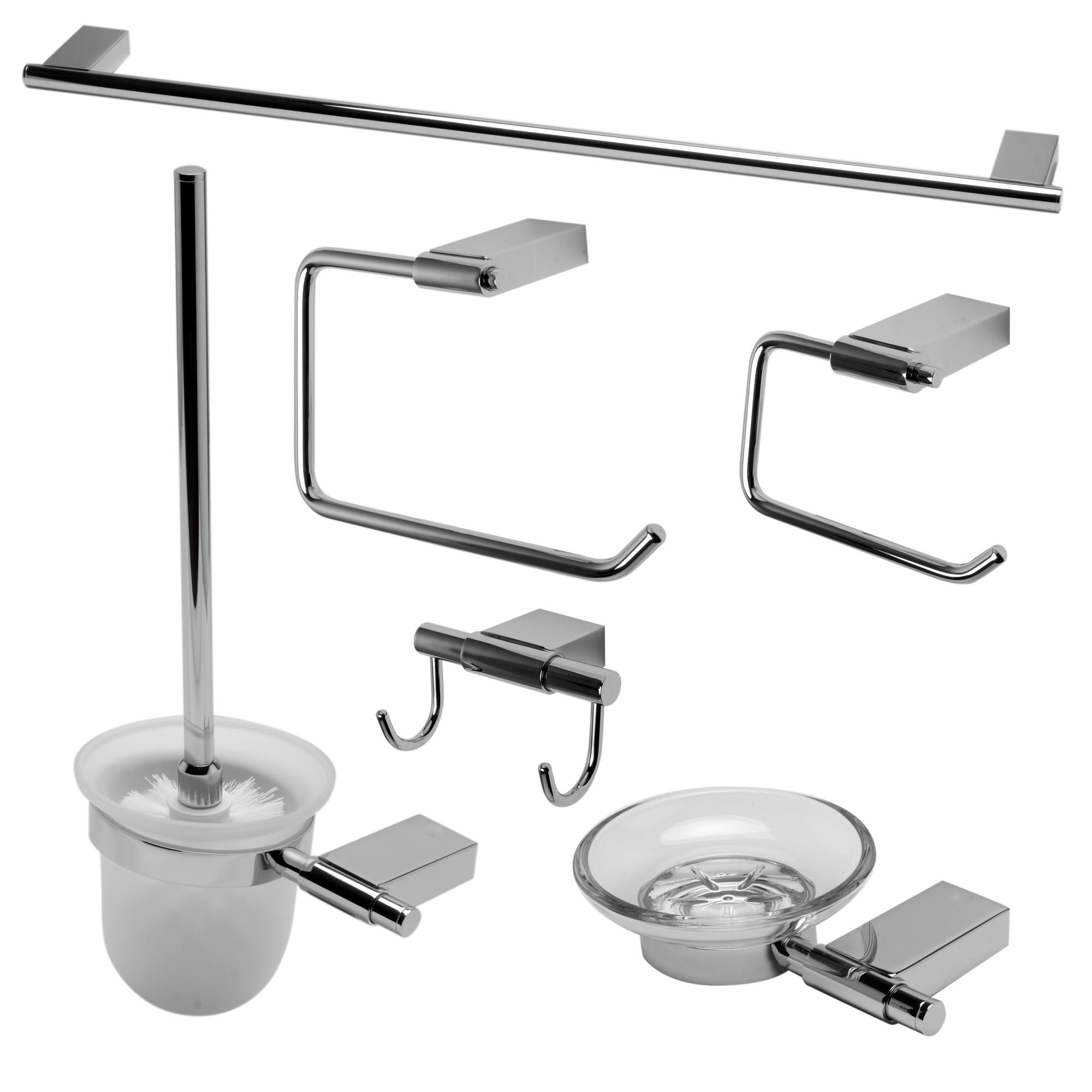 ALFI Brand AB9515-PC Polished Chrome Matching Bathroom Accessory Set, 6 Piece
