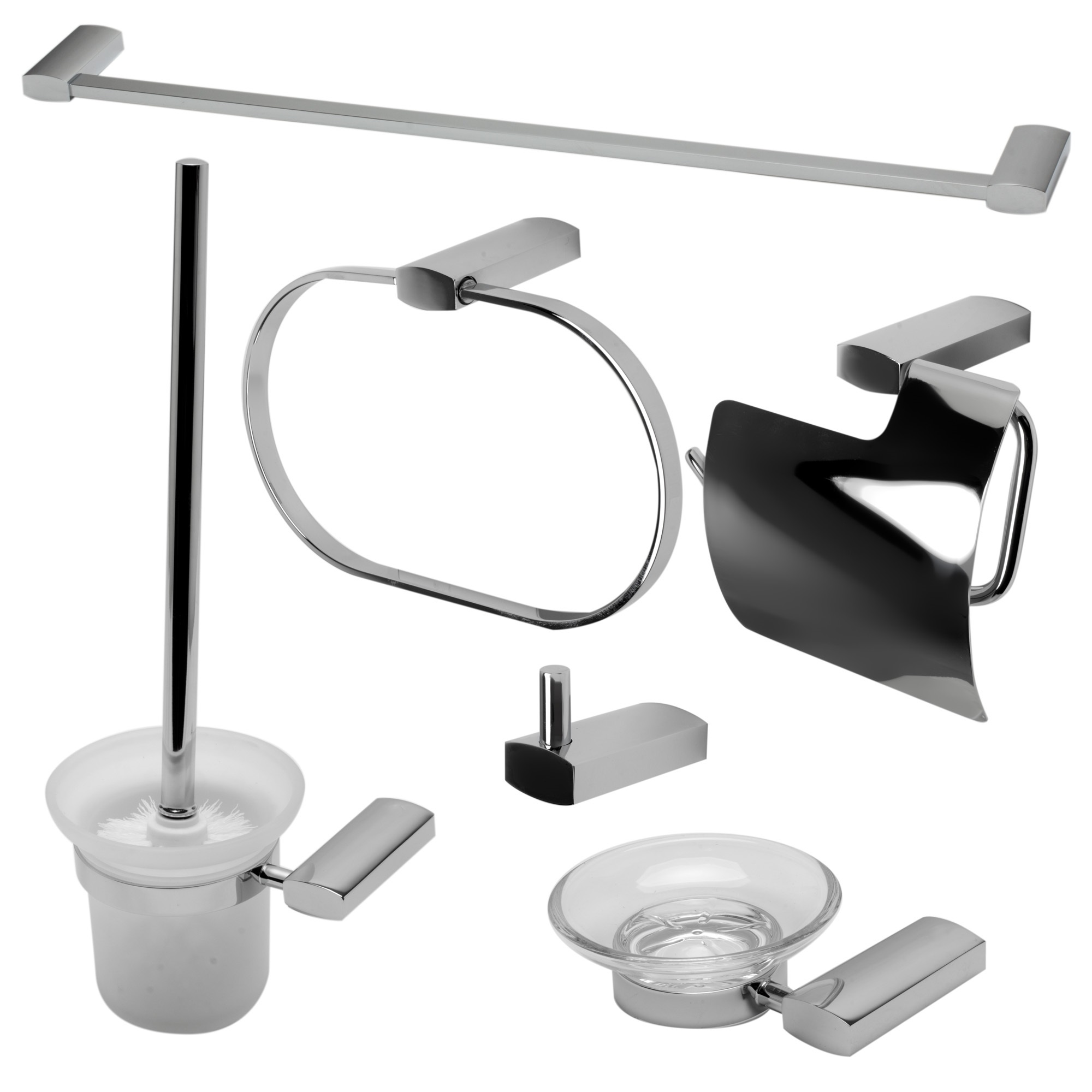 ALFI Brand AB9503-PC Polished Chrome Matching Bathroom Accessory Set, 6 Piece