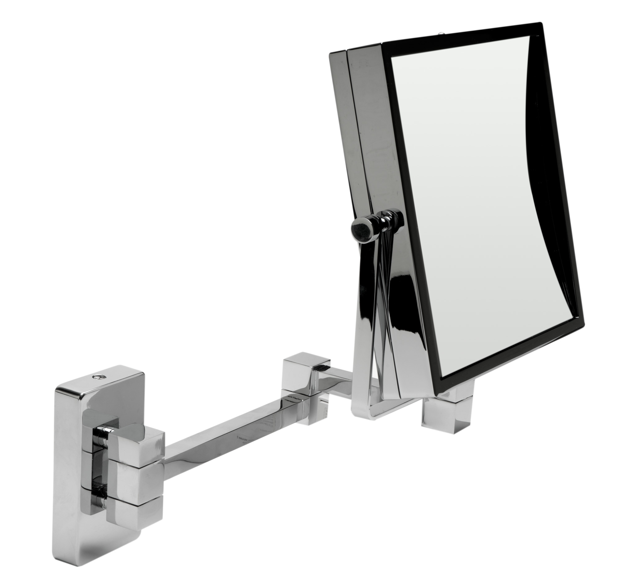 Alfi Brand ABM8WS-PC 8 in. Square Wall Mounted 5x Magnify Cosmetic Mirror - Polished Chrome