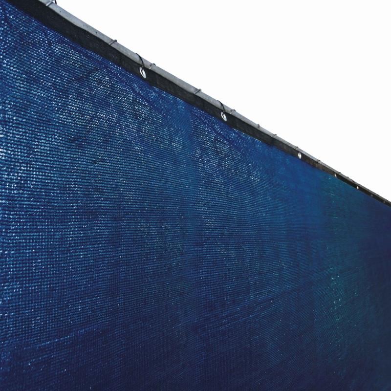 Aleko PLK0450BLUE-UNB 4 x 50 ft. Privacy Outdoor Backyard Fence Wind Screen, Blue