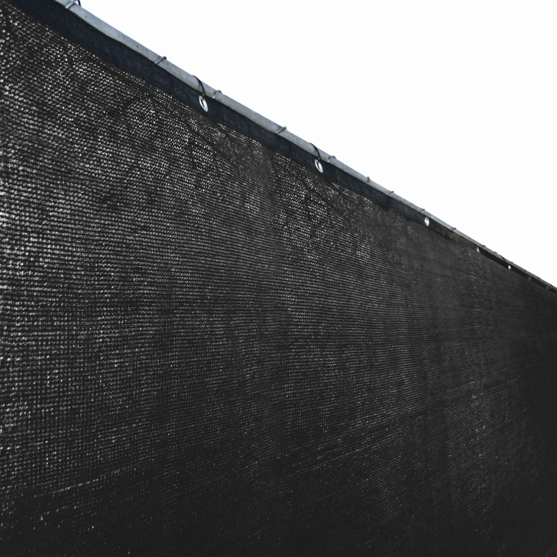 ALEKO PLK0425BLK-UNB 4 x 25 ft. Privacy Outdoor Backyard Fence Wind Screen, Black