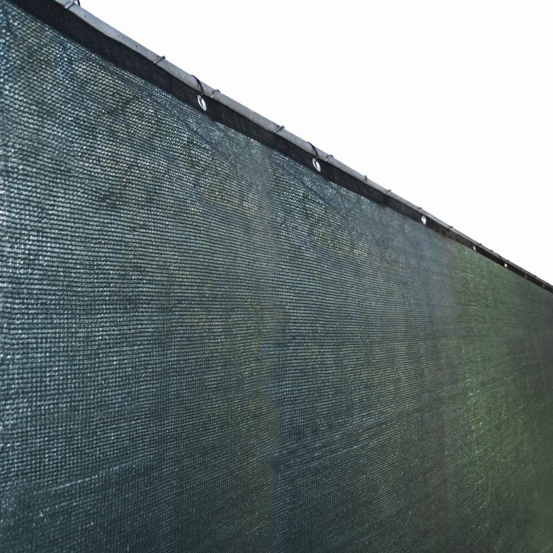 ALEKO PLK0850GR-UNB 8 x 50 ft. Outdoor Windscreen Fence Privacy Screen with Grommet, Green