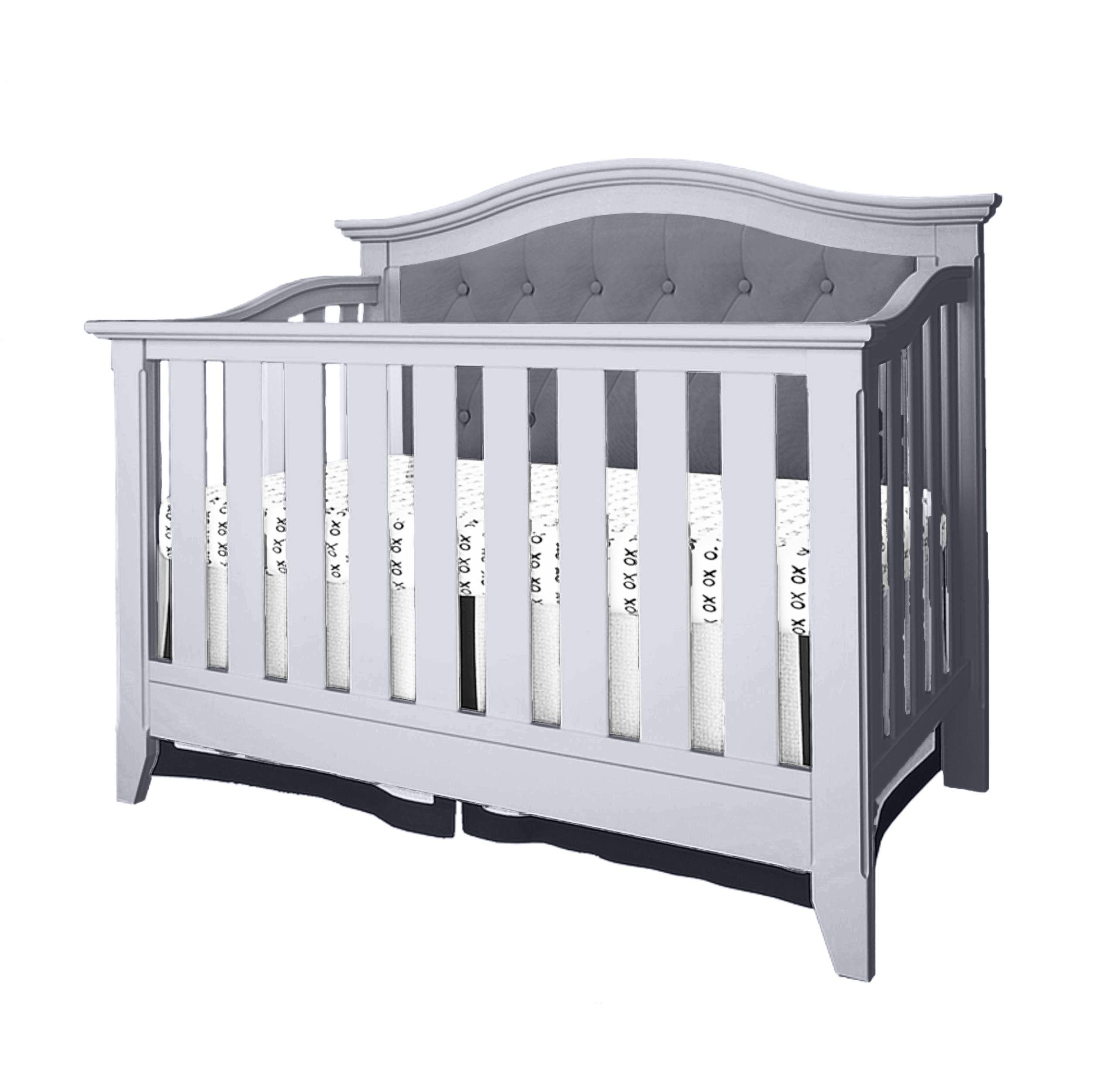 Belle Isle Furniture AAK14-0N03 Classic little ones nursery clean-lined crib, White & Dark Grey