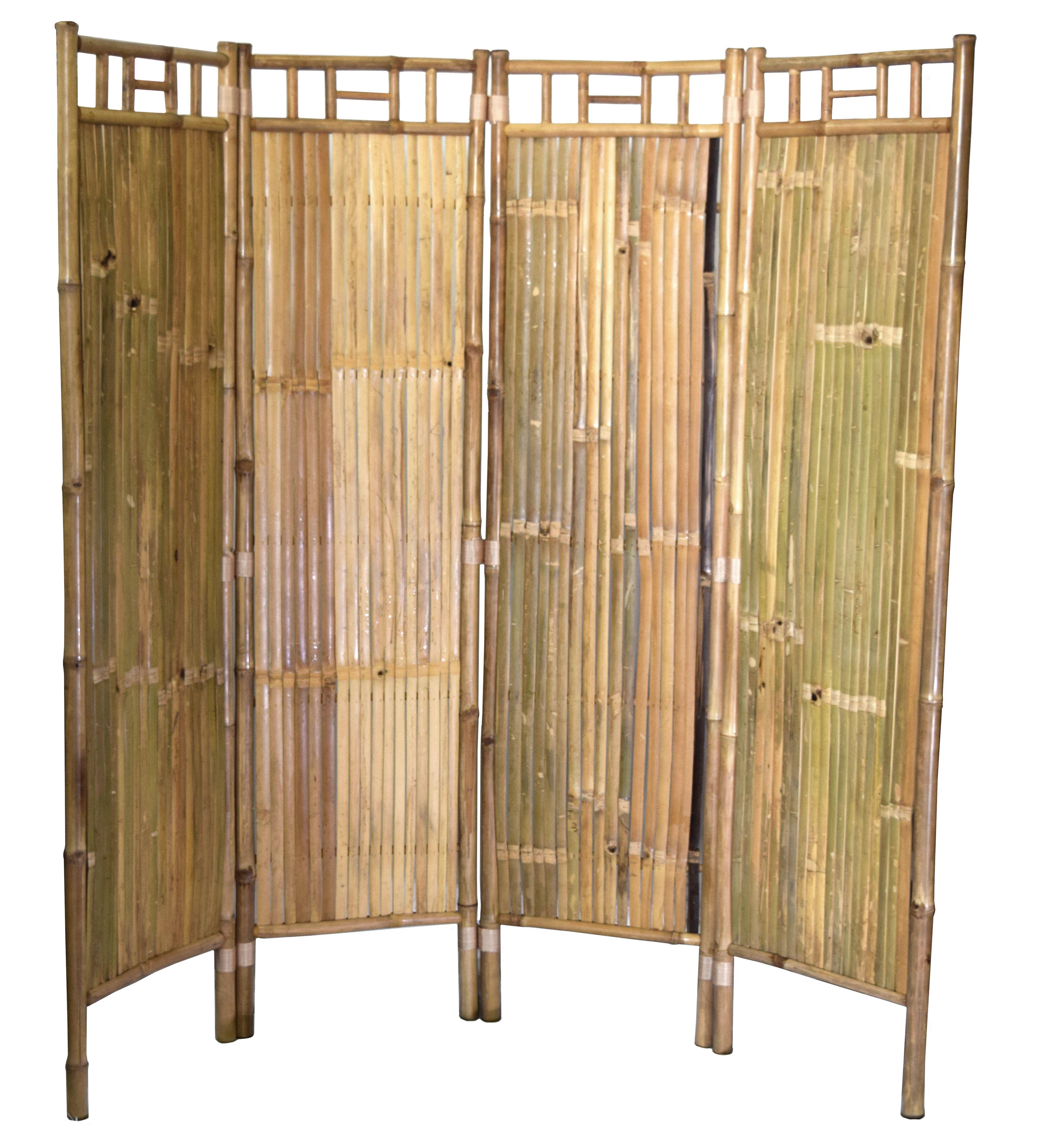 Bamboo54 5301A Bamboo 4 Panel Screen