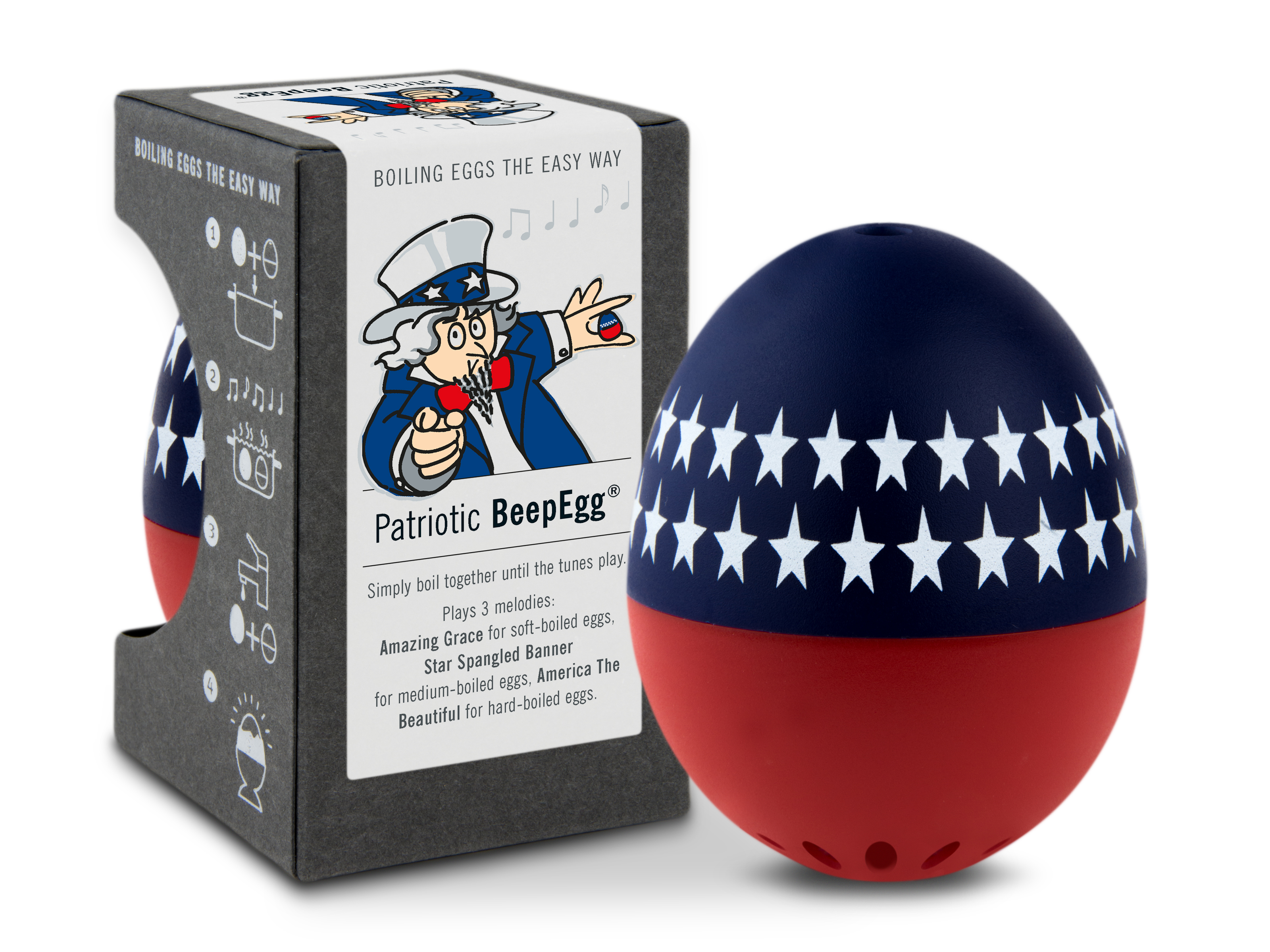 BeepEgg A004526 Basic Singing & Floating Egg Timer, Patriotic