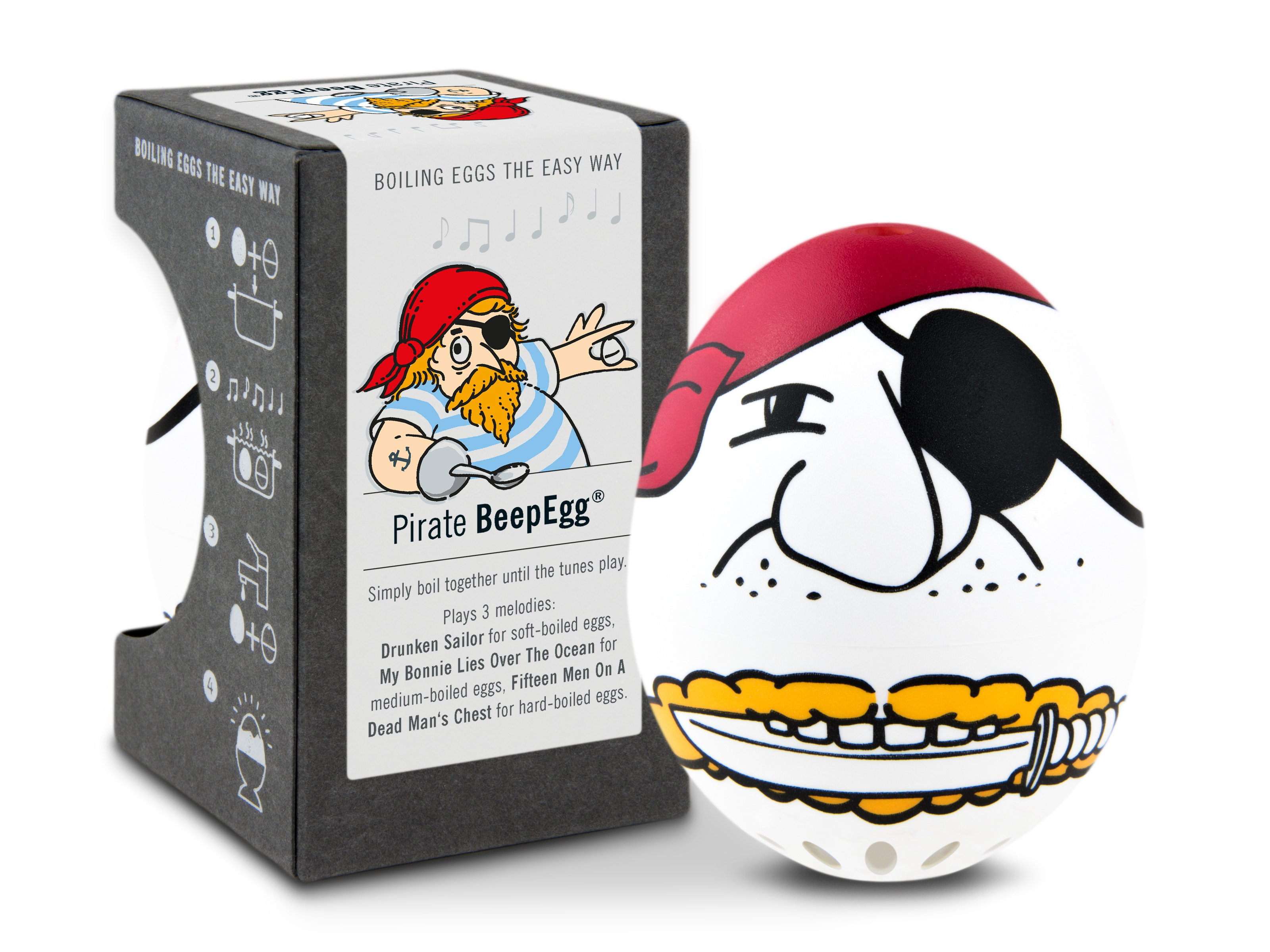 BeepEgg A004690 Musical & Singing Floating Egg Timer Pirate