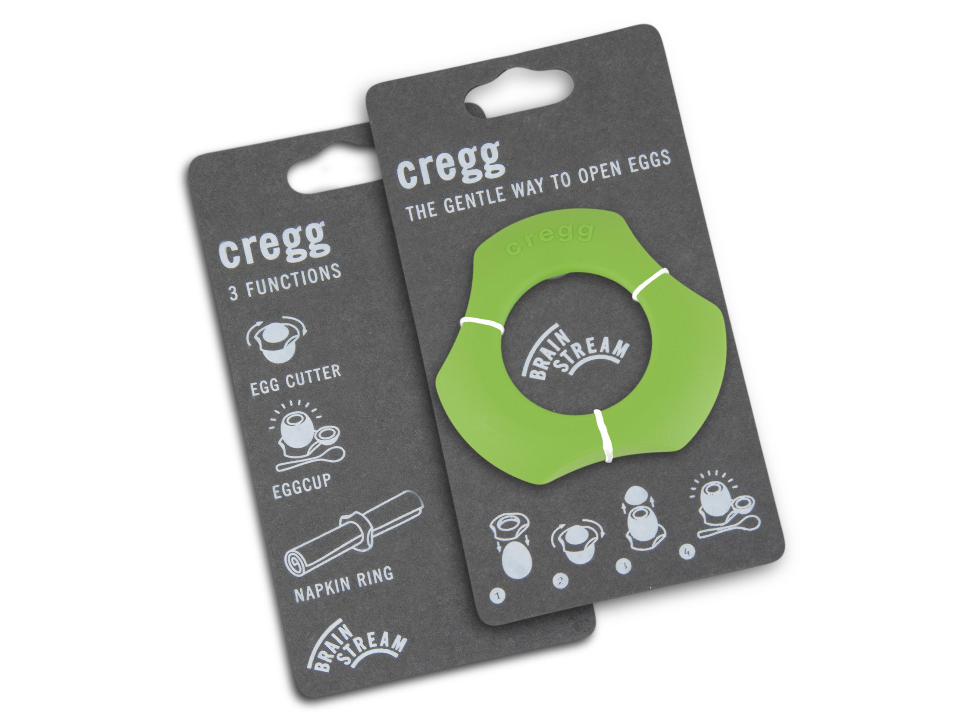 Cregg A001274 Single Pack & Eggshell Cutter Eggcup Napkin Ring, Lime