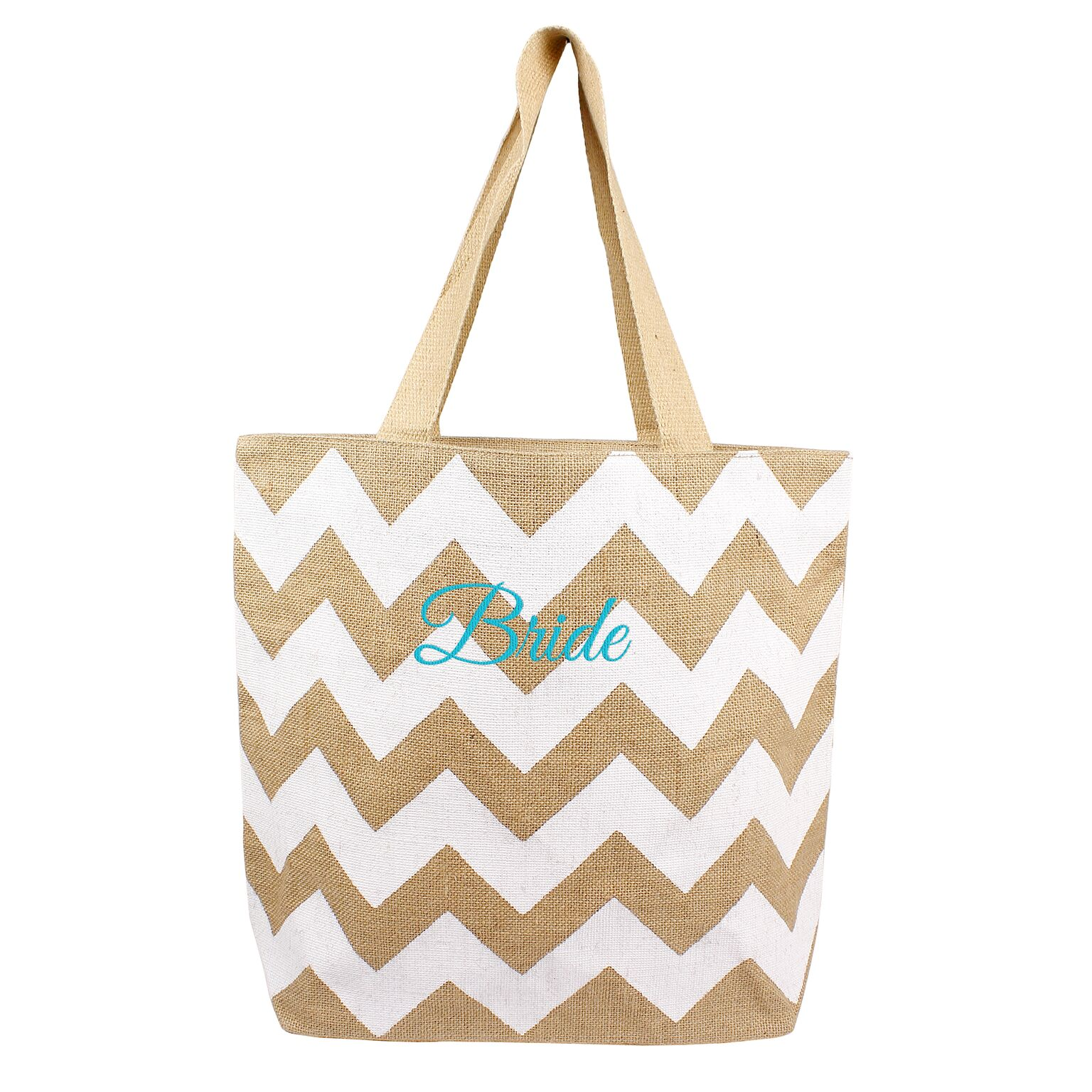 Cathys Concepts BRD-2138W Jute Bride Tote