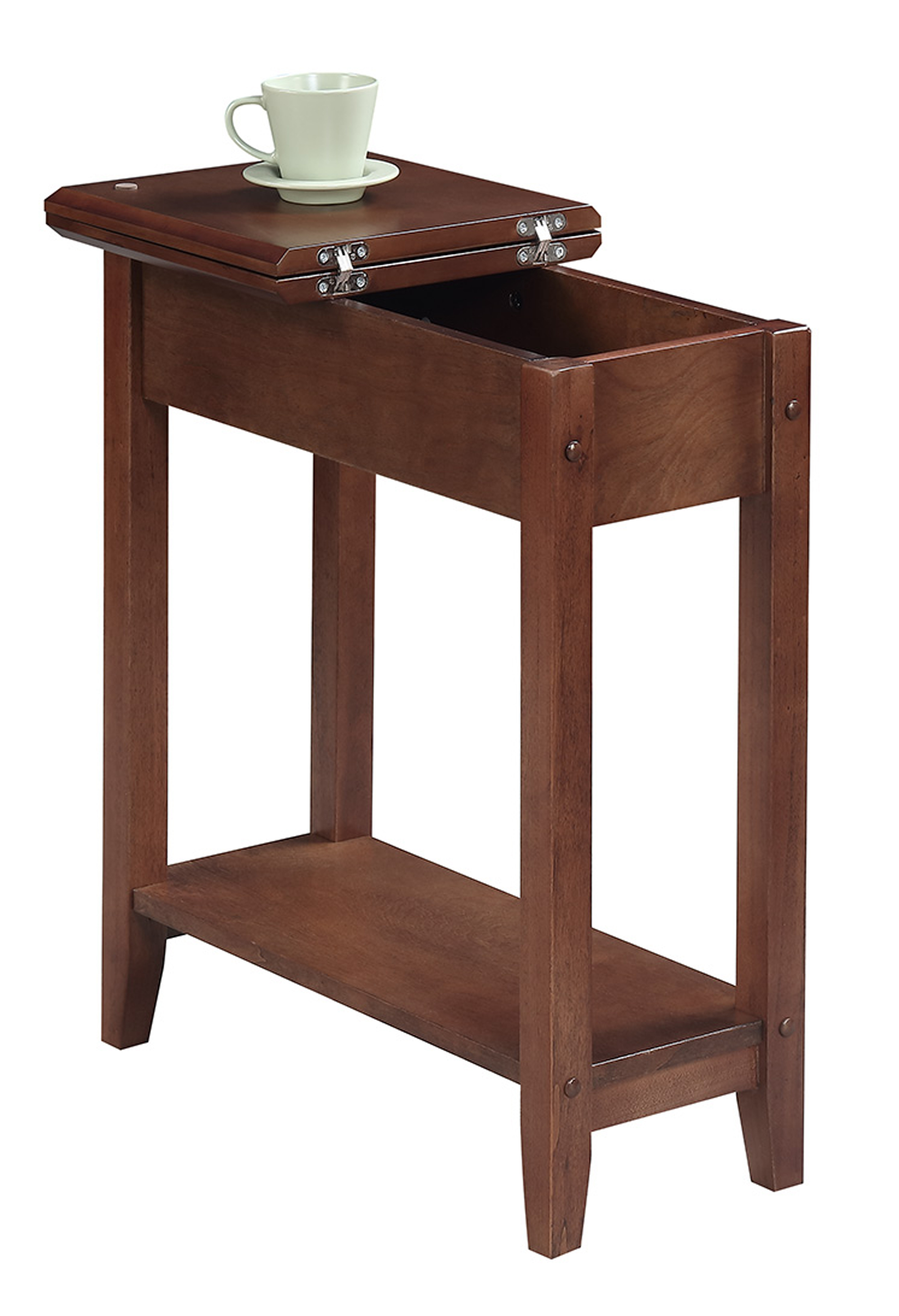 Convenience Concepts 7105059DWN American Heritage Flip Top End Table