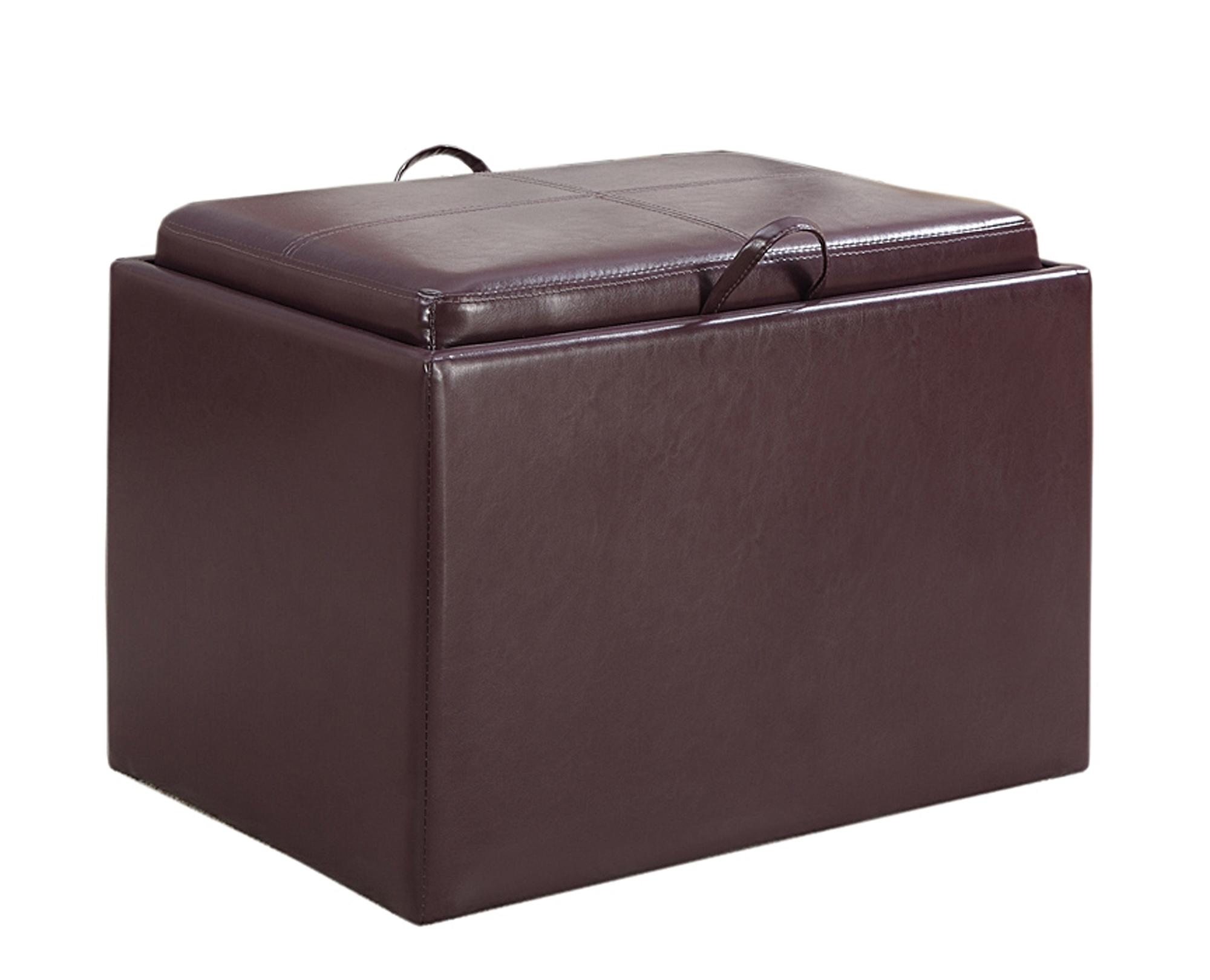 Convenience Concepts 143523PP Comfort Accent Storage Ottoman in Purple