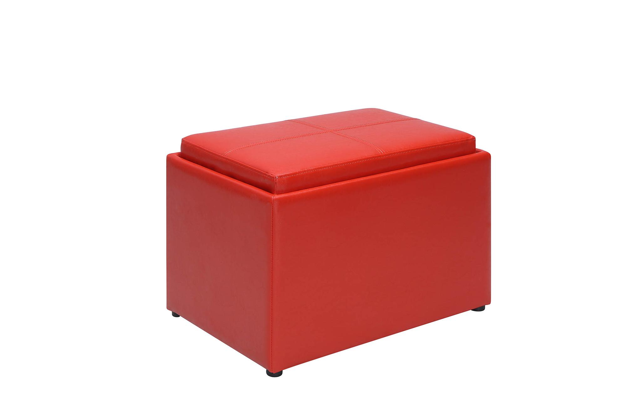 Convenience Concepts 143523RD Designs4Comfort Accent Storage Ottoman