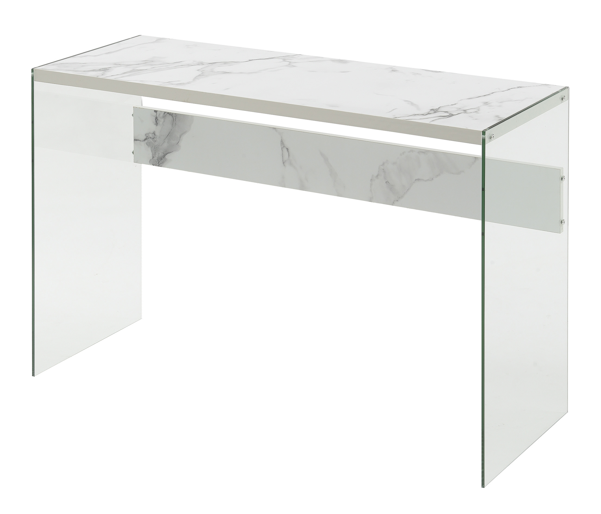 Convenience Concepts 131562WM Soho Console Table, Faux White Marble