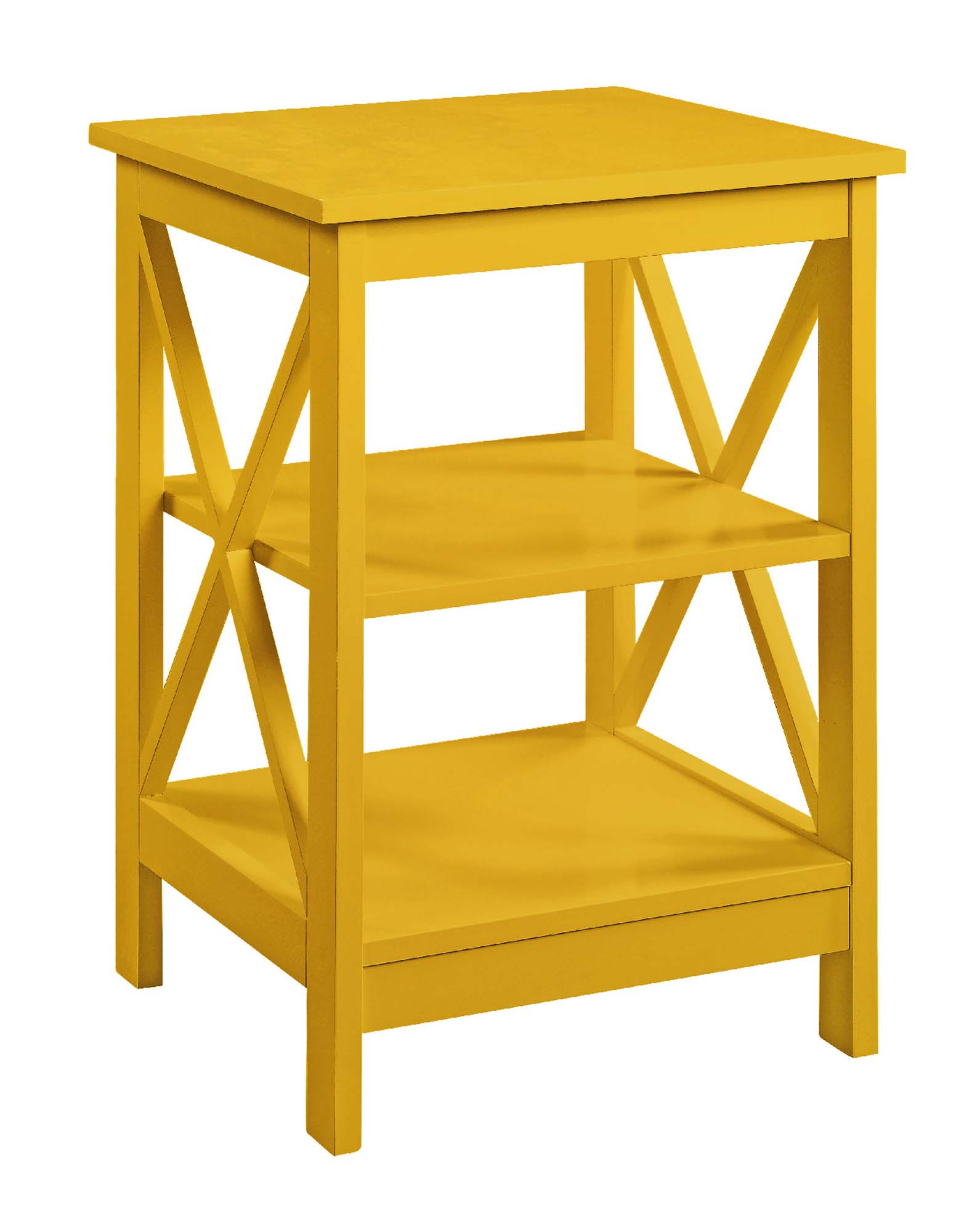 Convenience Concepts 203085Y Oxford End Table, Yellow - 24 x 15.75 x 15.75 in.