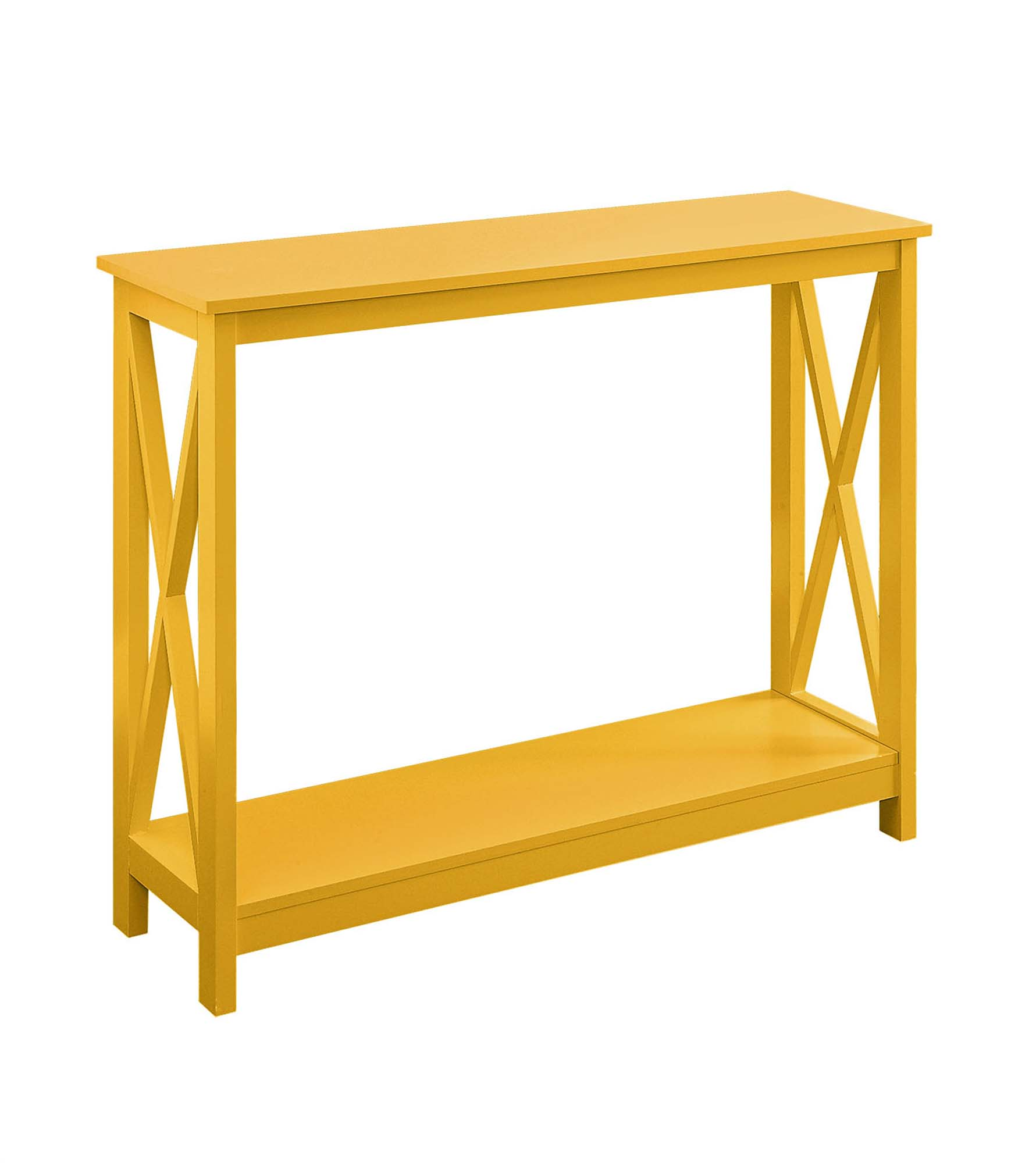 Convenience Concepts 203099Y Oxford Console Table, Yellow - 31.5 x 11.75 x 39.5 in.