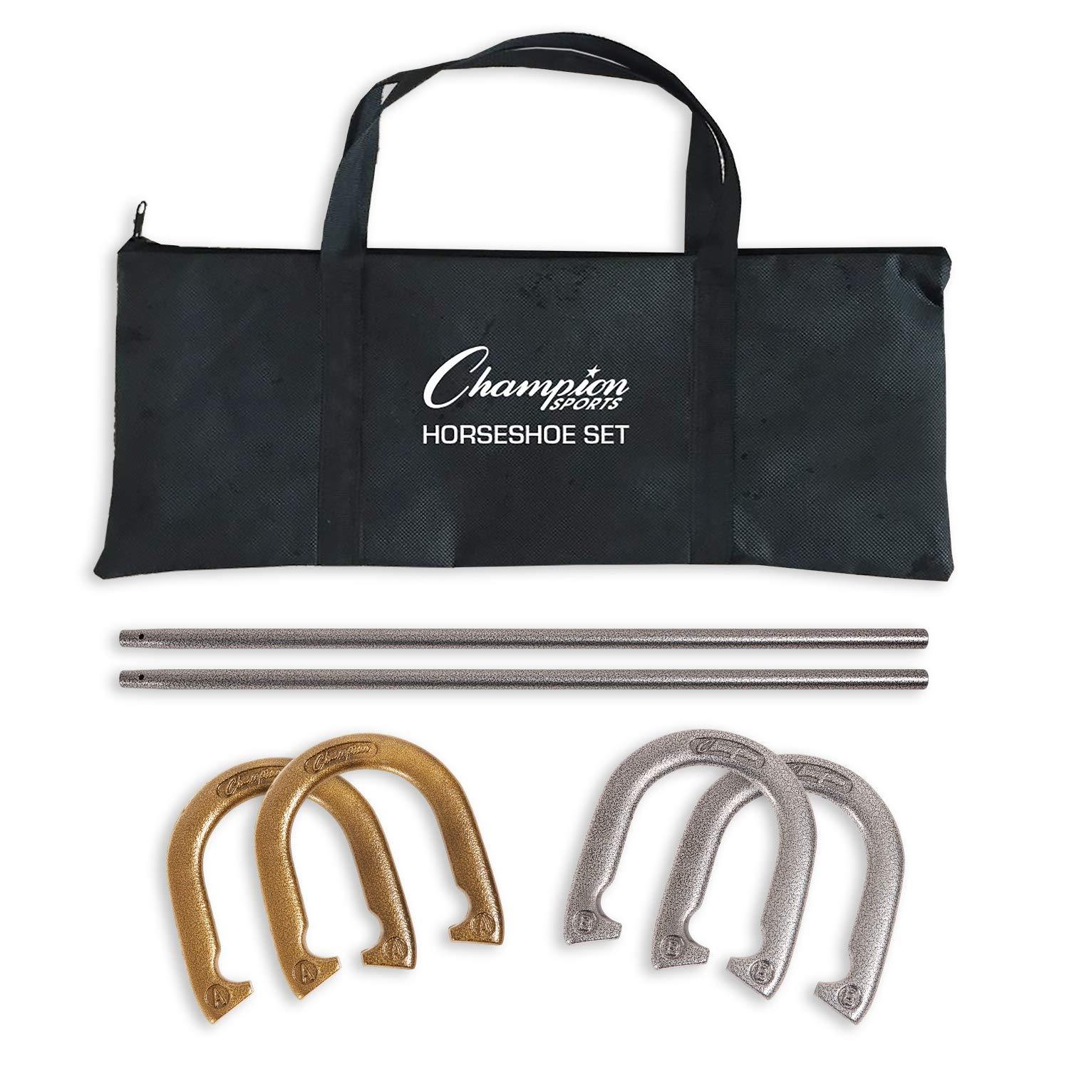 Champion Sports IHS100 Steel Horseshoe Set