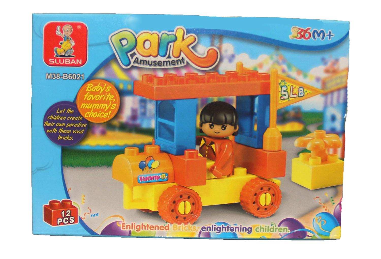 Amusement Park Duplo-Style Brick Kit (12 pcs)