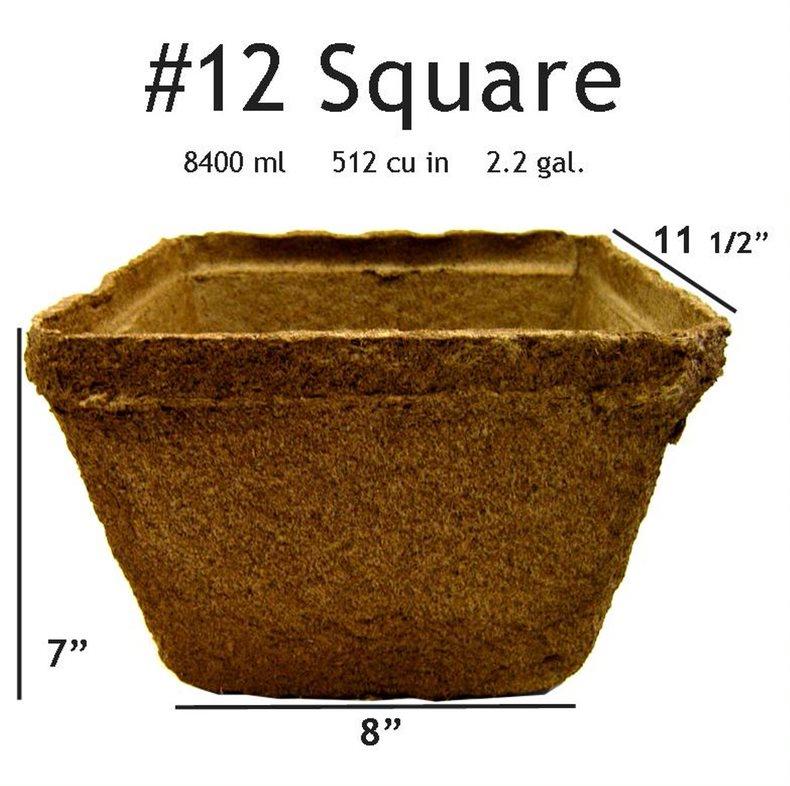 CowPots # 12 Square Pot - 2 pots