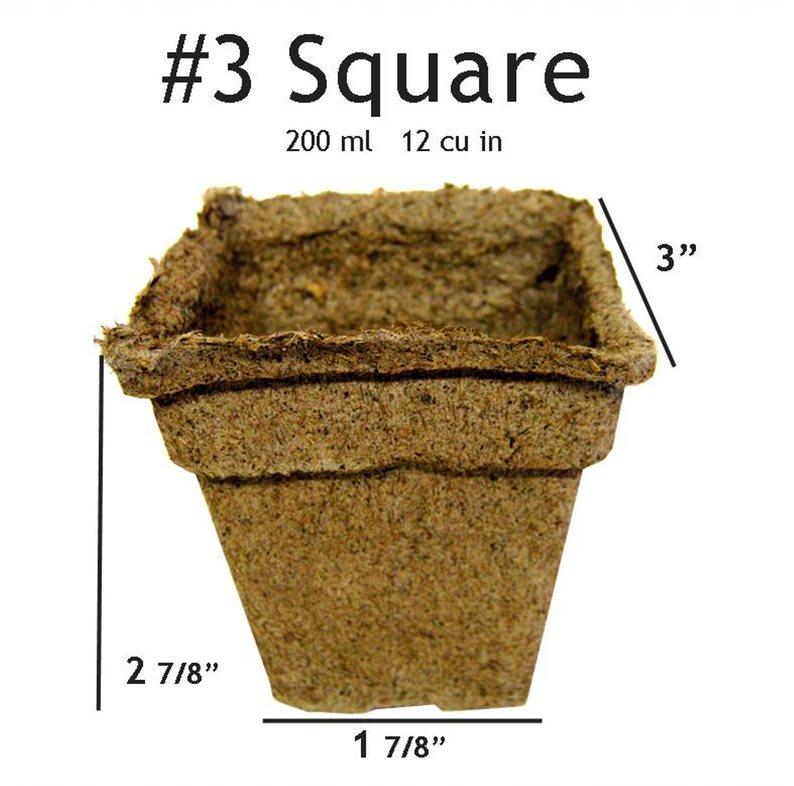 CowPots #3 Square Pot - 24 pots