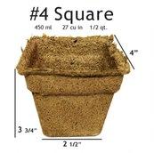 CowPots #4 Square Pot - 50 pots