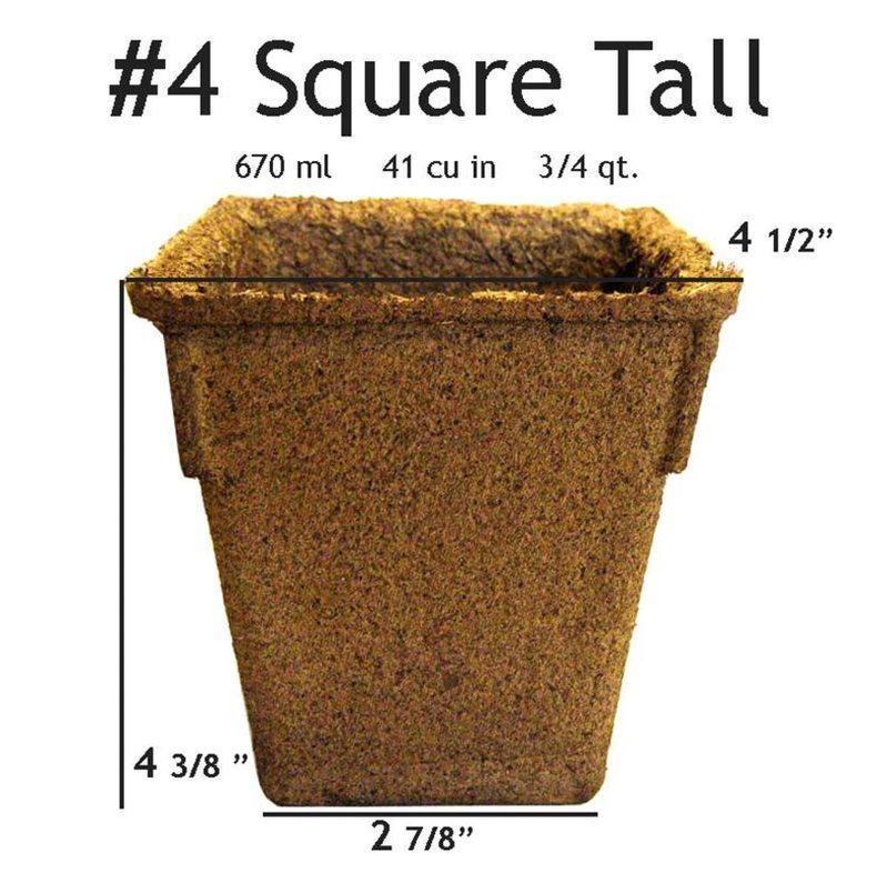 CowPots #4 Square Tall Pot - 24 pots