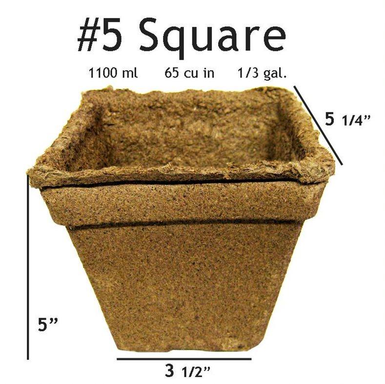 CowPots #5 Square Pot - 20 pots