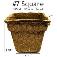 CowPots #7 Square Pot - 12 pots