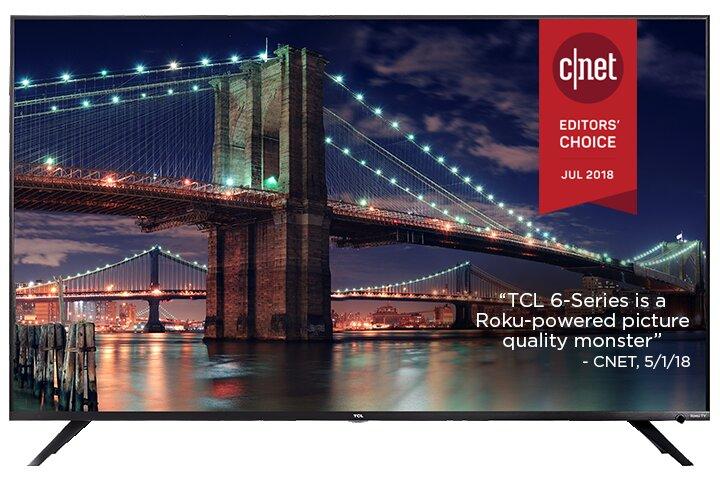 TCL 75R617 75 in. 4K Smart LED Roku Smart TV