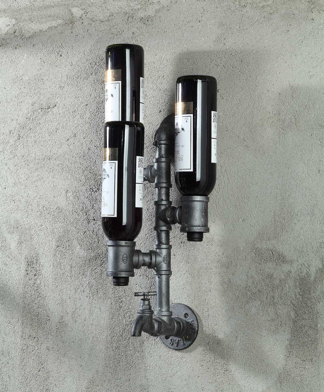 4D Concepts 624015 Allentown Wine Bottle Holder - Black Piping