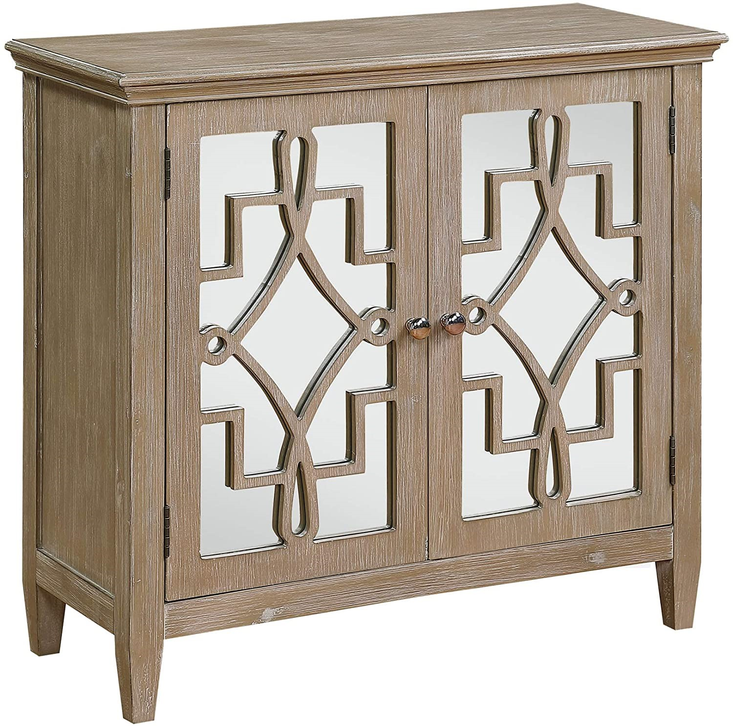 4D Concepts 100632 Lucy Accent Chest with Mirrored Doors