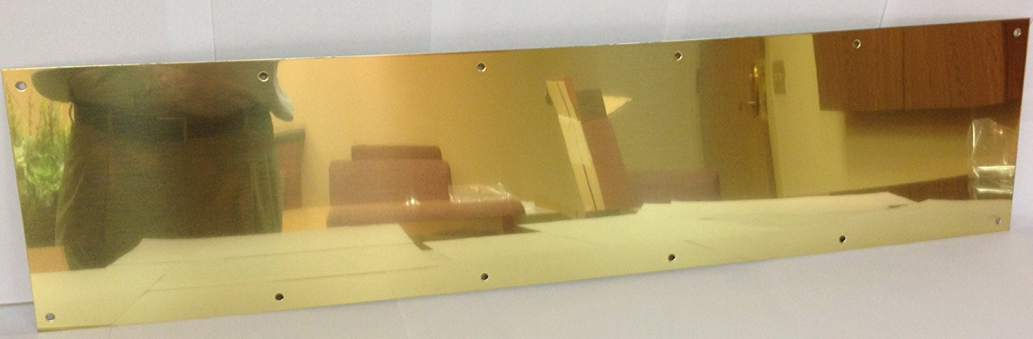 Don-Jo Manufacturing 90-8 X 36-605 8 x 36 in. Polished Brass Kick Plate