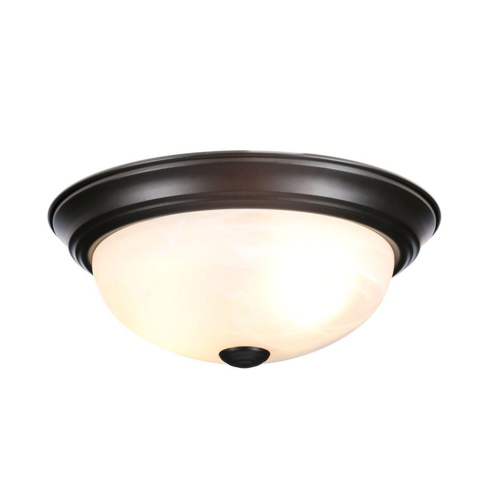 Design House 519231 11 in. 2 Light Ceiling Mount - Oil Rubbed Bronze, Pack of 2