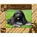 Giftworks Plus DBA0017 Bearded Collie, Alder Wood Frame, 4 x 6 In