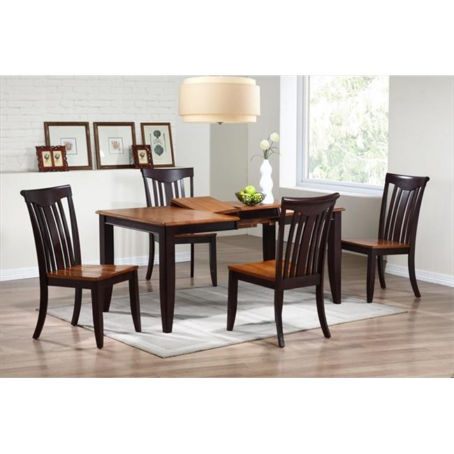 Details About Iconic Furniture Rectangle Dining Table Contemporary Leg In Whiskey Mocha