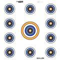Allen 15208 12 in. 11 Spot Target