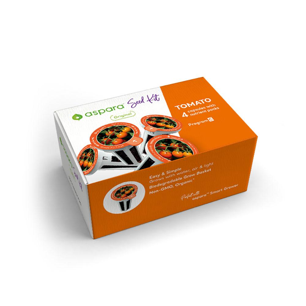 Aspara KTC0001 4 Pack Capsule Seed Kit - Cherry Tomato