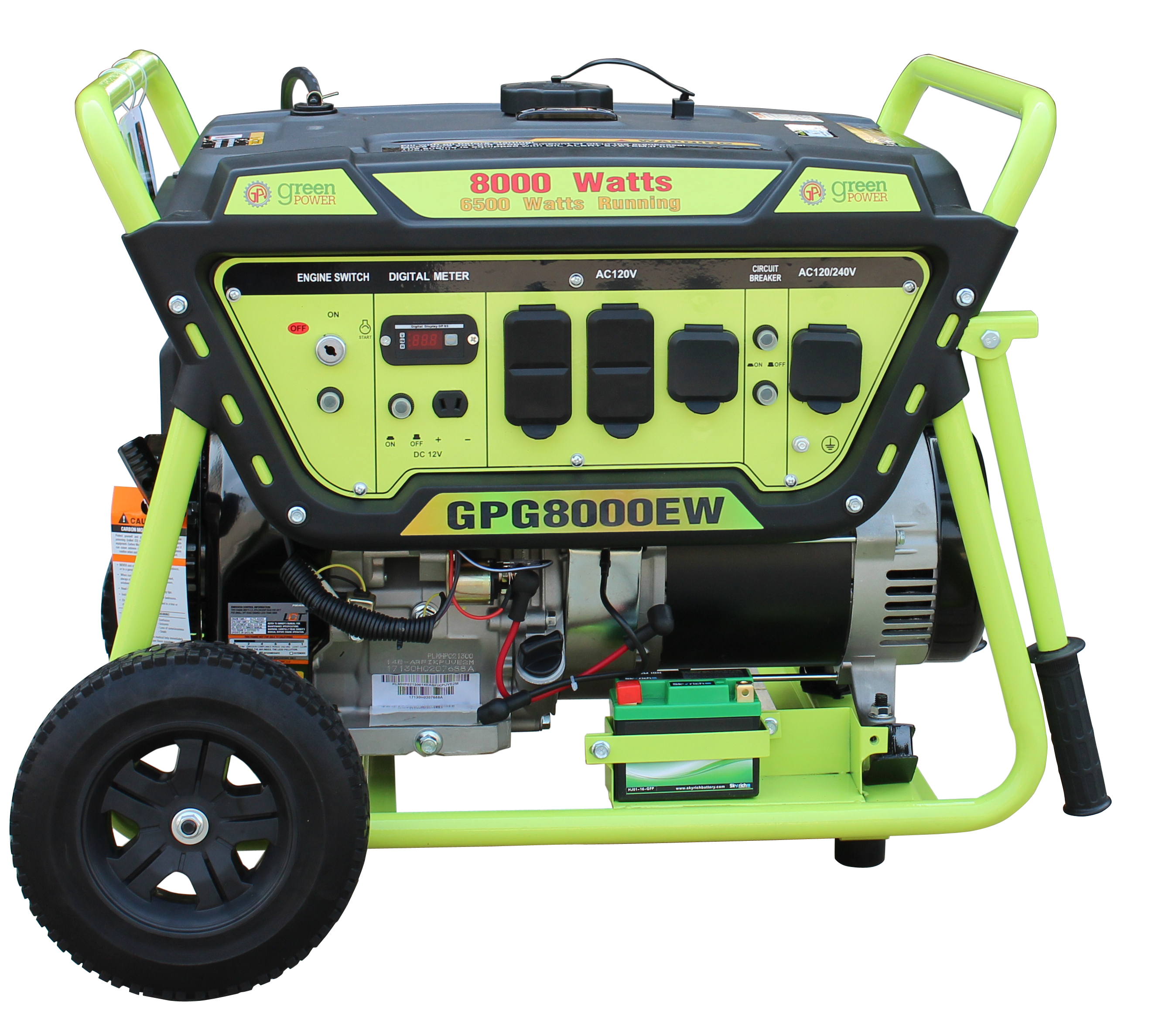 Green-Power GPG8000EW 8000 Watt Gasoline Generator With Electric Start