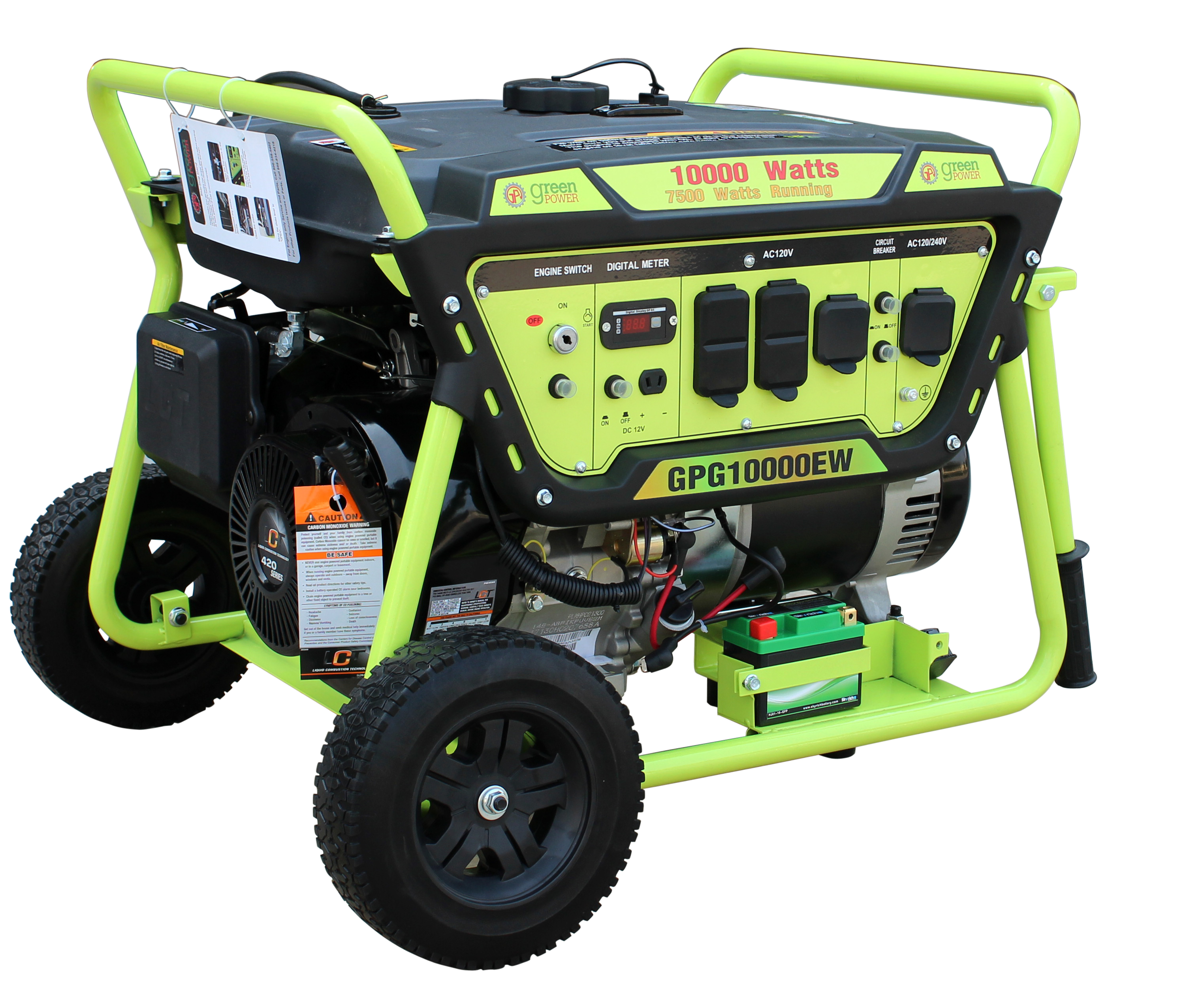 Green-Power GPG10000EW 10000 Watt Gasoline Generator With Electric Start