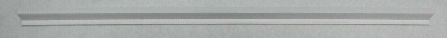 Custom Plastics CPF 581FR 2 Hanging File Rail Drawer Sides, White - 0.62 in. & 2 ft.