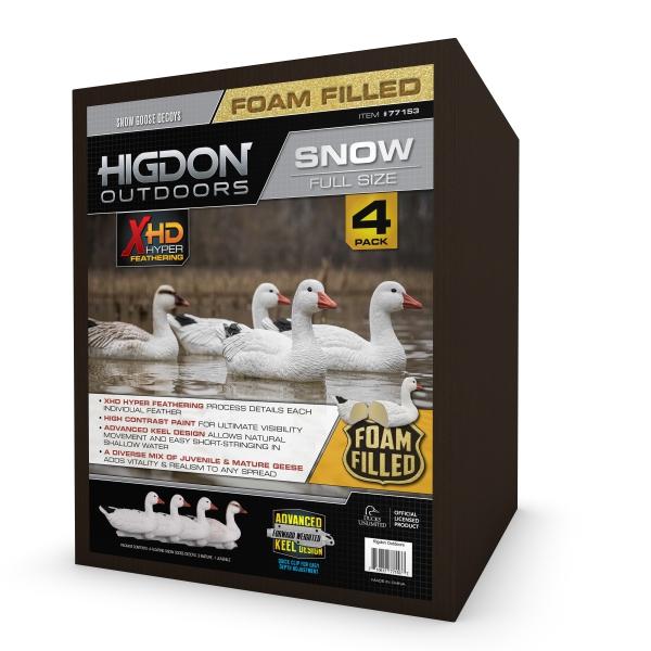 Higdon Outdoors 77153 Full Size Goose Floater, Snow Foam Filled
