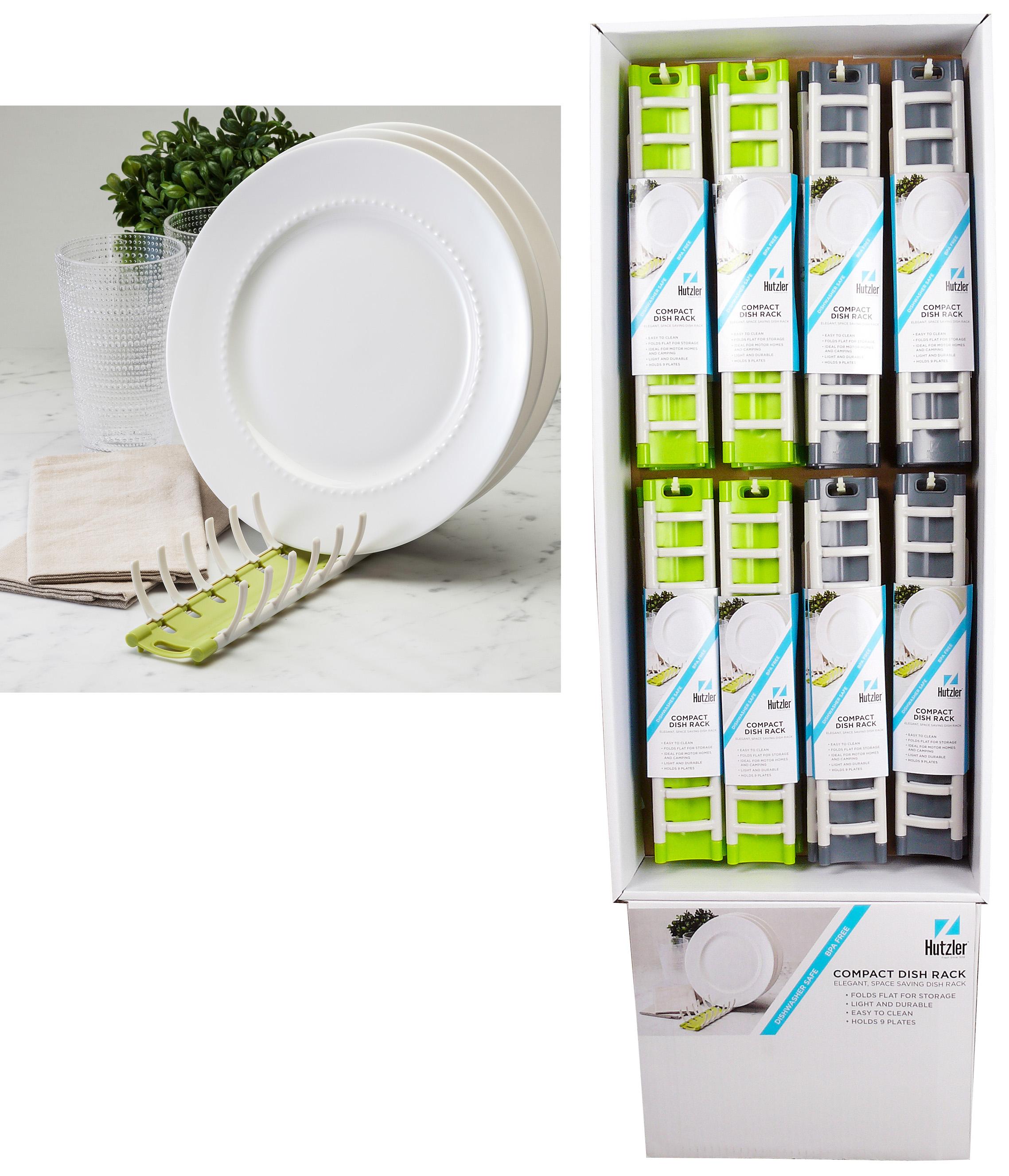 Hutzler 24-888 Compact Dish Rack Floor Display (24 pack)