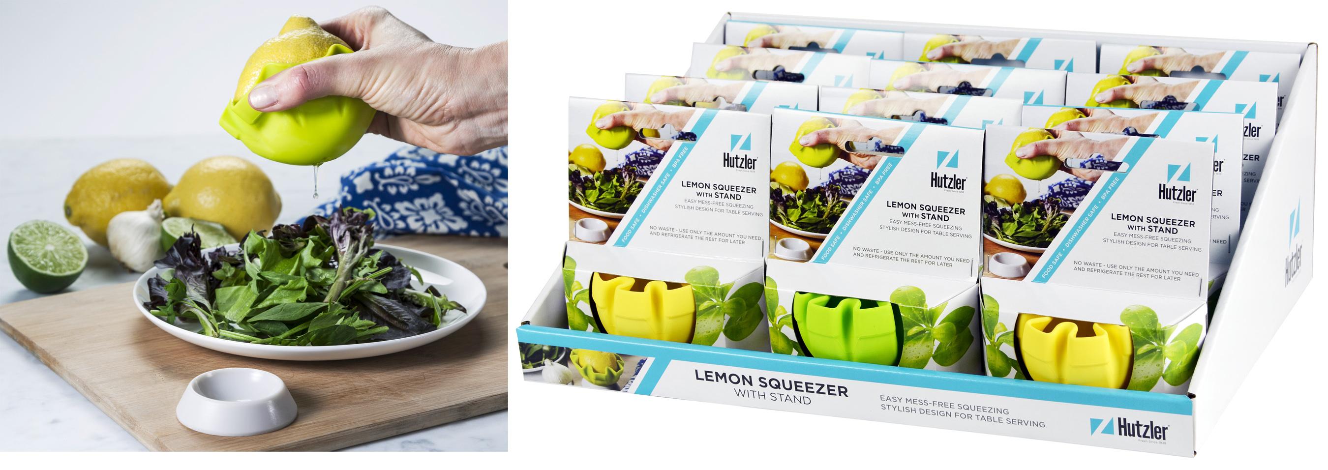 Hutzler 12-889 Lemon Squeezer Counter Display (12 pack)