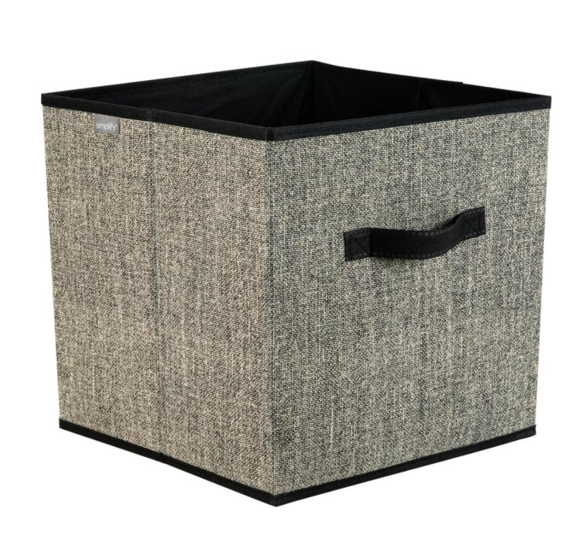 Simplify 25432-BLACK Collapsible Storage Cube, Black