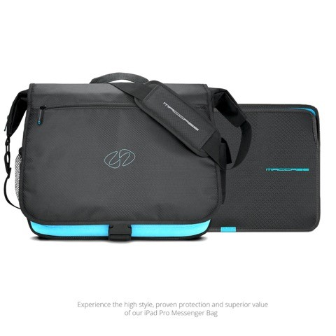 MacCase IPPMB-BK iPad Pro Messenger Bag with 12.9 Sleeve - Black
