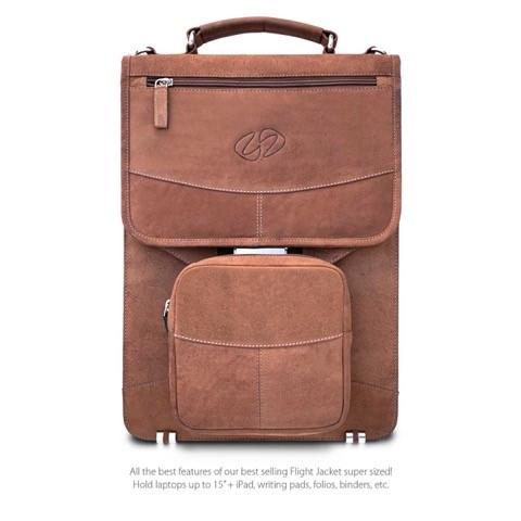 MacCase LVB-VN Premium Leather Vertical BriefCase - Vintage Brown