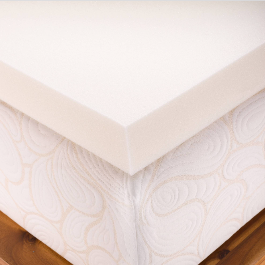 Twin XL Size 2 Inch Thick  Firm Conventional Polyurethane Foam Mattress Pad Bed Topper
