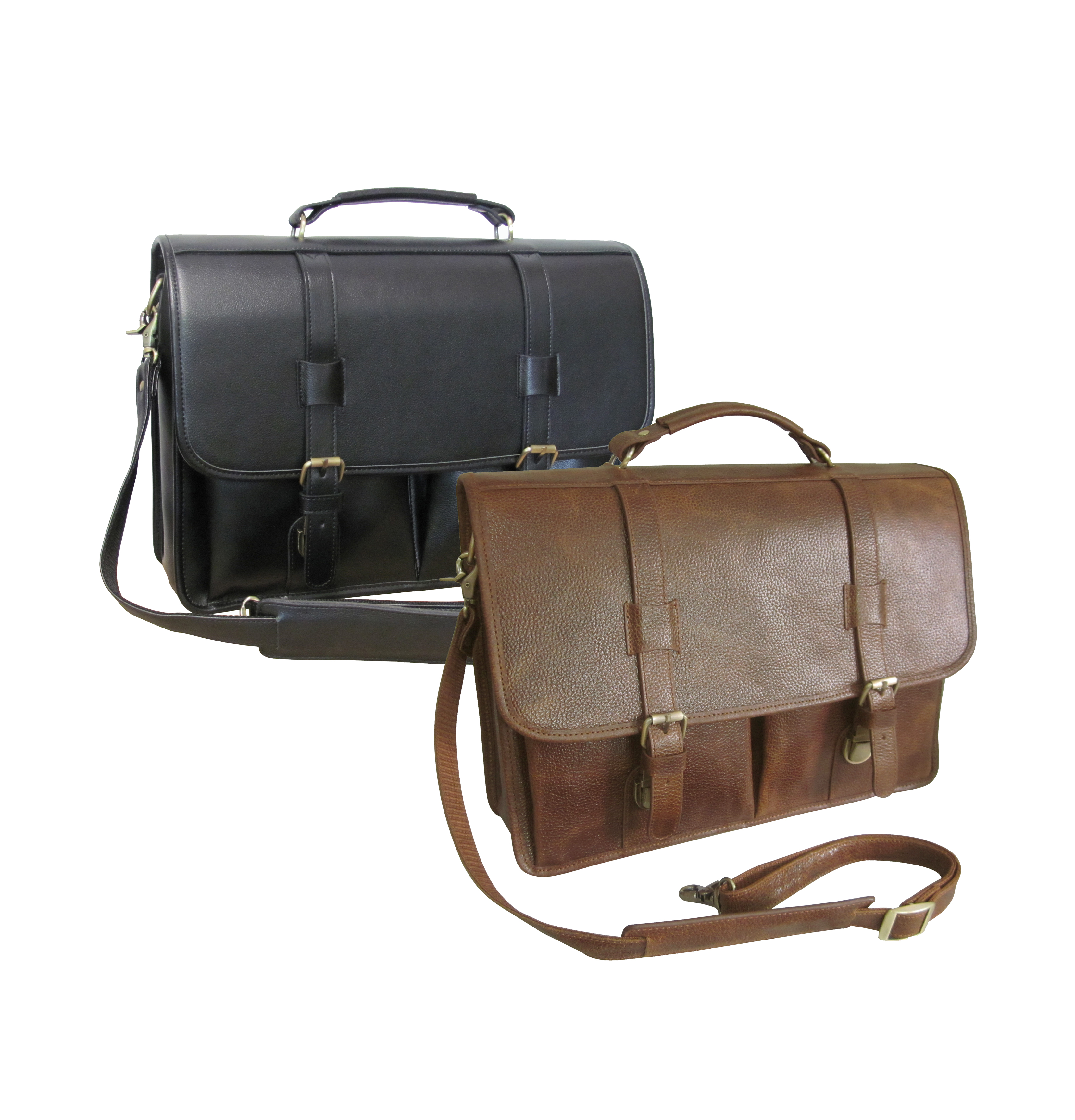 Amerileather 2510-2 Leather Executive Briefcase - Brown