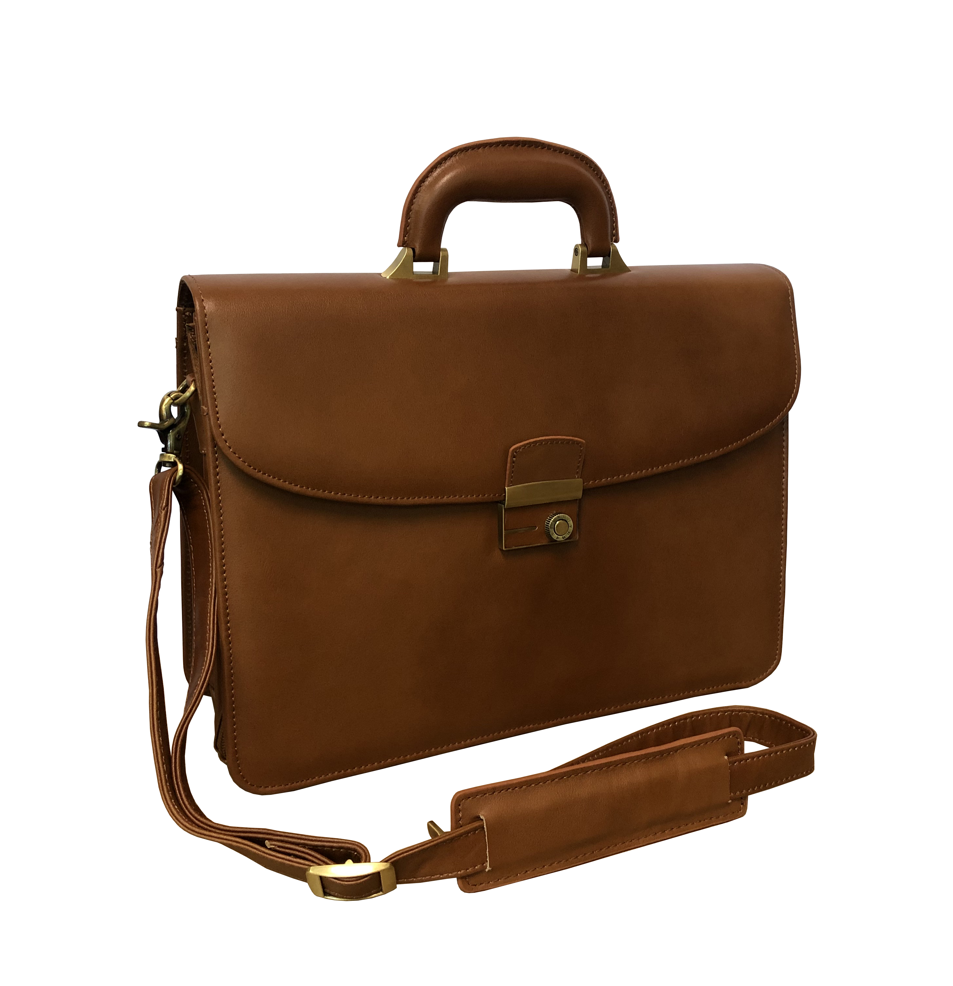 Amerileather 2850-2 APC Functional Leather Executive Briefcase, Brown