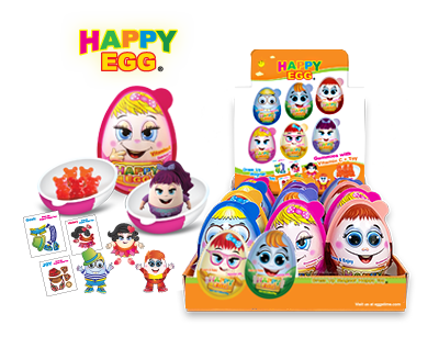 Happy Egg HE12 Happy Egg with Surprises, Pack of 3